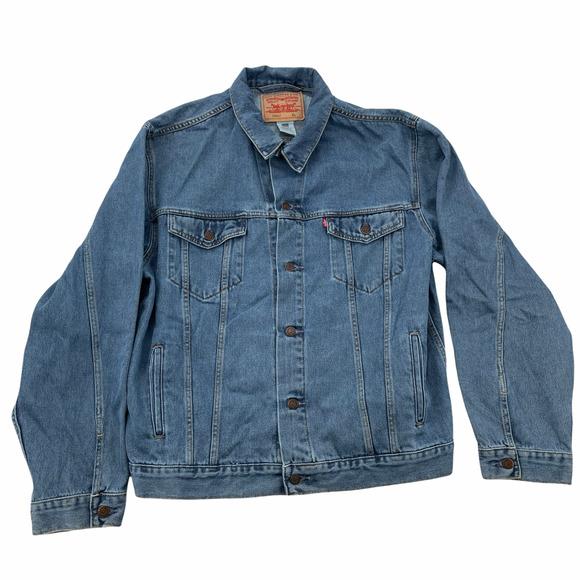 Levi's Men's XL Standard Trucker Jacket Medium Stonewash Blue 100% Cotton
